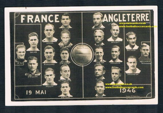 1946 England pc 19 May 1946 France
